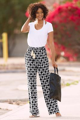 Display product reviews for Shell print palazzo pant