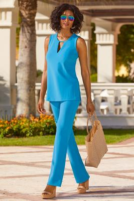 Beyond travel™ keyhole sleeveless top