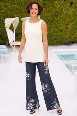 beyond travel™ floral palazzo pant