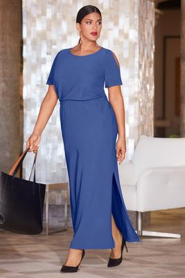 Beyond travel™ blouson maxi dress
