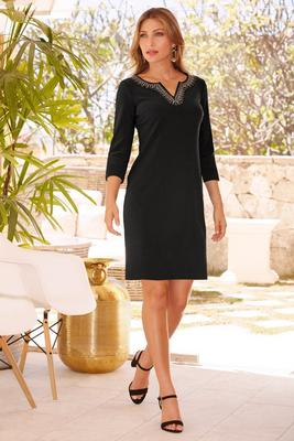 Display product reviews for Beyond travel™ embellished dress