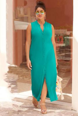 Beyond travel™ maxi shirtdress