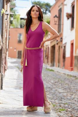 Beyond travel™ v neck maxi dress