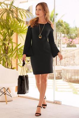 Beyond travel™ cold shoulder dress