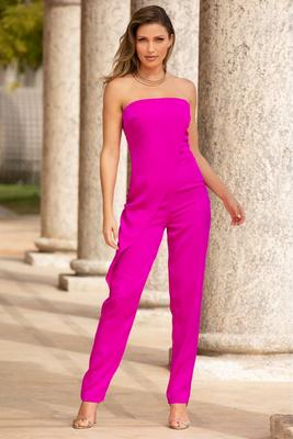 Display product reviews for Asymmetric overlay jumpsuit