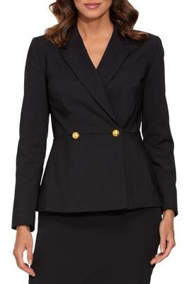Two button peplum blazer