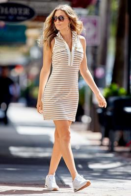 Display product reviews for Stripe racerback chic zip dress