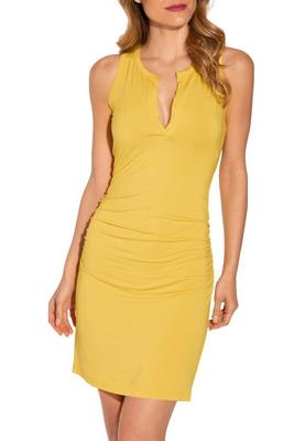 Henley ruched dress