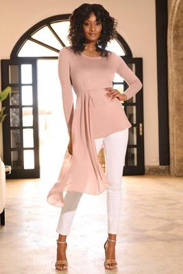 Display product reviews for Chiffon overlay long sleeve top