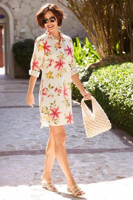 Display product reviews for Tropical shirtdress