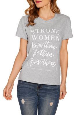 Strong women short sleeve top