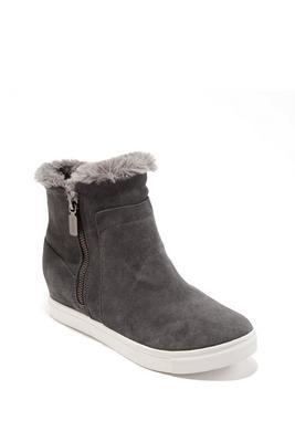 Weatherproof Faux-Fur Zip-Up Sneaker