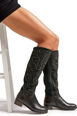 Display product reviews for Embellished Faux-Fur Boot