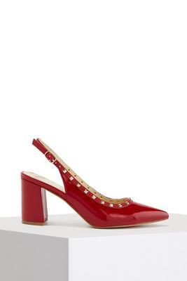 Studded Slingback Heel