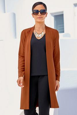 Display product reviews for Beyond Travel™ Long Cardigan