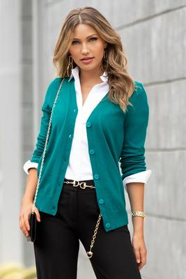 Display product reviews for Basic Button-Down Cardigan Sweater