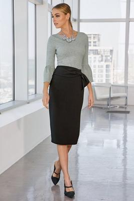 high waist sash-belt skirt