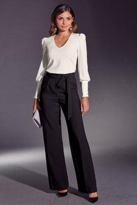 Display product reviews for High Waist Tie Crepe Pant