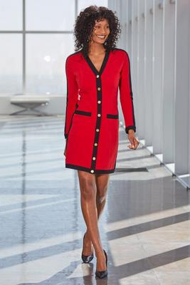 Snap Front Color-Block Dress