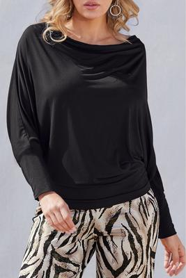 Relaxed Blouson Wide-Neck Top