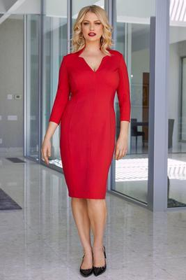 Military Three-Quarter Sleeve Sheath Dress