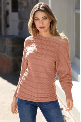 Slouchy Cable Sweater