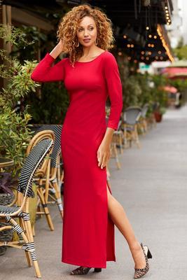 Beyond Travel™ Three-Quarter Sleeve Maxi Dress