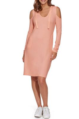 So Soft Hoodie Cold-Shoulder Dress