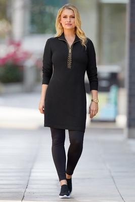 Chain Trim Chic Dress