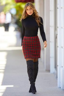 Display product reviews for Plaid Above-the-Knee Skirt