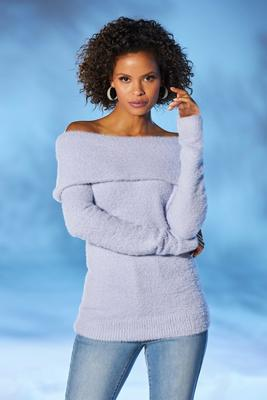 Display product reviews for Plush Slouchy Long-Sleeve Sweater