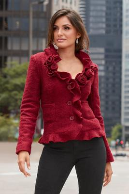 Display product reviews for Rosette and Ruffle Jacket