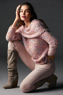 Slouchy Marled Tunic Sweater