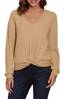 So Soft Ribbed Drape Top