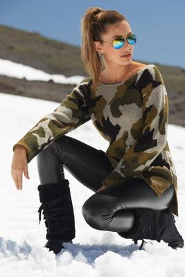 Camo Slouchy Sweater