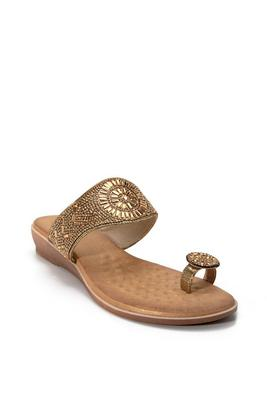 Embellished Toe-Ring Sandal