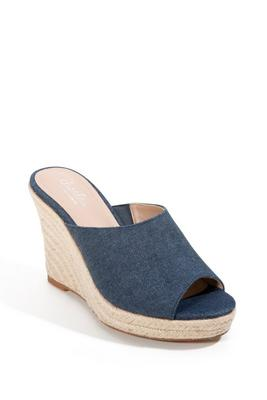 Slide-On Espadrille Wedge Heel