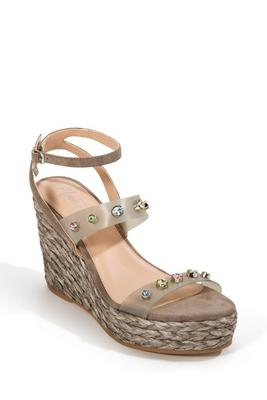 espadrille jeweled wedge shoe