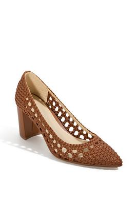 Woven Closed-Toe Pump