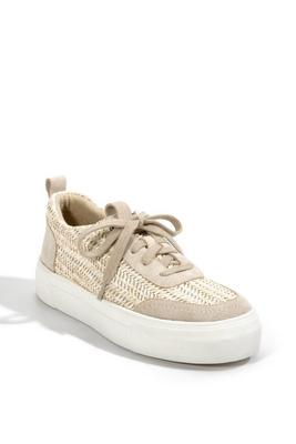 Raffia Lace-Up Sneaker