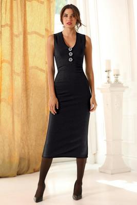 Brooch V-Neck Dress