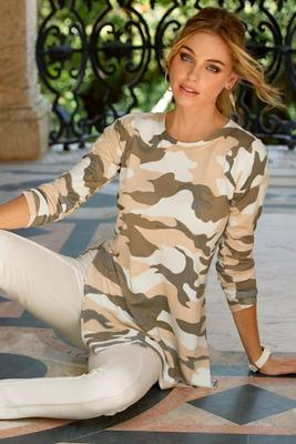 Camo Tunic Sweater