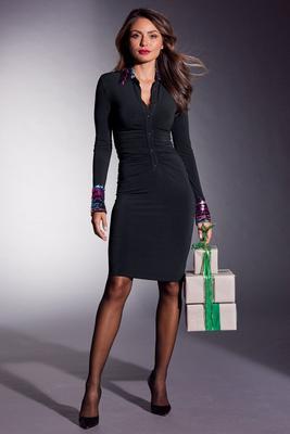 Sequin Collar Dress