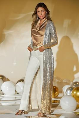 sequin ombré duster