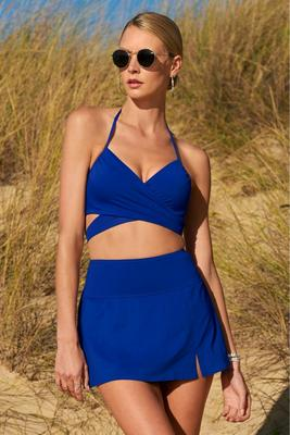 swim sense high-waisted skirted bottom