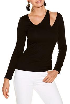 So Sexy™ asymmetric cutout long sleeve top