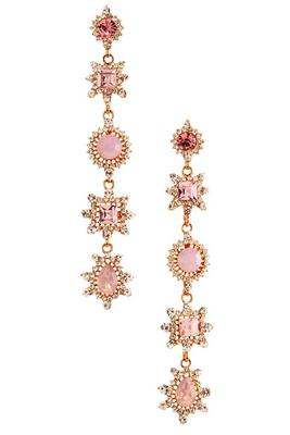 pink sparkle dangle earrings