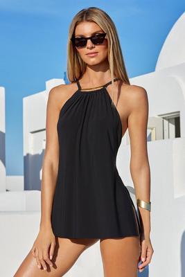 Bar Detail Versatile Swim Dress