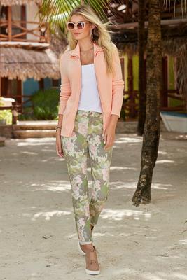 Camo Floral Ankle Jean