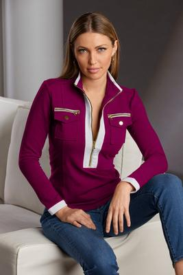Display product reviews for Chic Zip Pullover